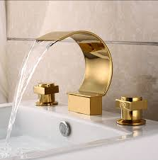 Brass Sink Faucet Plated Brass Three Sets Of Bathroom Sink Waterfall Faucet At