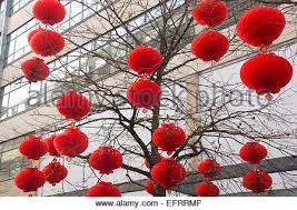 New Year Decorations In Office by Chinese New Year Decorations In Chinatown Singapore Stock Photo
