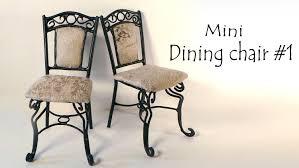 How To Make Dolls House Furniture Miniature Furniture U0027dining Chair U0027 Tutorial Youtube