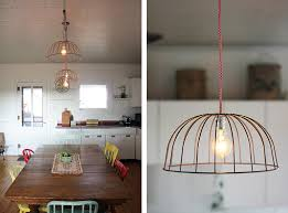 diy wire basket lights the merrythought