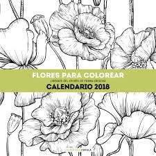 calendario flores colorear 2018 planeta libros
