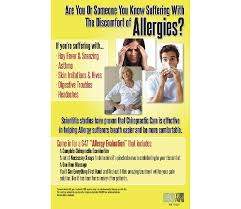 allergy educational poster justus chiropractic marketing