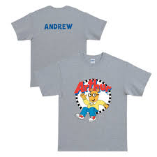 the official pbs kids shop arthur hello arthur gray t