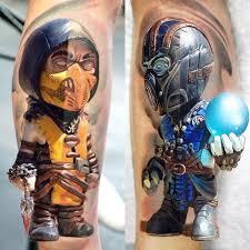 kombat tattoo by denis torikashvili tidan