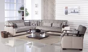 Grey Velvet Sectional Sofa Grey Velvet Sectional Sofa With Brown Wooden Armrest Combined By