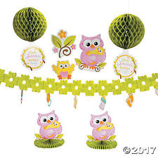 owl baby shower baby shower decorating kit