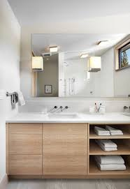 unique bathroom vanity open shelf for interior home ideas color