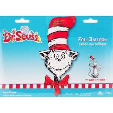 dr seuss balloons seuss character shape foil mylar balloon 42