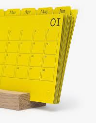 Desk Calendar With Stand Monocle X Present U0026 Correct Desk Calendar