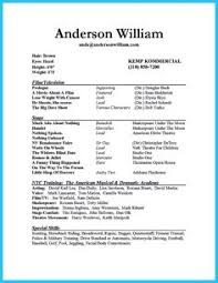 Musical Theater Resume Sample by Acting Resume Sample Presents Your Skills And Strengths In Details