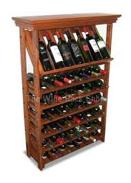 35 bottle corner wine rack with top and baseboard features solid