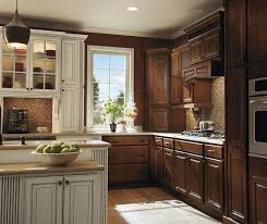 Ivory Colored Kitchen Cabinets - dark maple kitchen cabinets with ivory accents homecrest