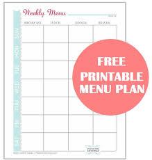 printable meal planner free free printable menu plan worksheet passion for savings