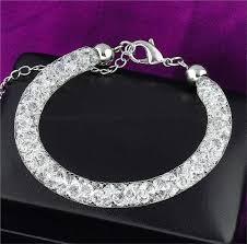 mesh bracelet swarovski images Gold plated mesh 3d stardust bracelet with swarovski crystal jpg
