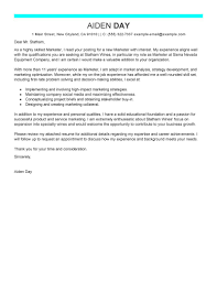 Cover Letter Example For Students Best Marketing Cover Letter Examples Livecareer