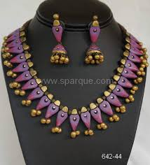 jewelry for new terracotta jewelry necklace sets with earrings handmade from clay