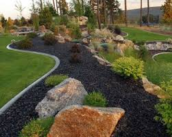 best 25 black rock landscaping ideas on pinterest rock mulch