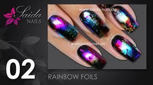 rainbow foil schnelles nail art foliendesign nailart leicht