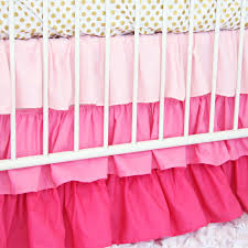 Gold Crib Bedding by Pink U0026 Gold Dot Ruffle Baby Bedding Caden Lane