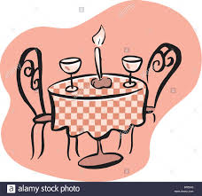 Table Setting Images by Drawing Of A Romantic Table Setting With Two Wine Glasses And A