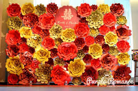 wedding backdrop design malaysia and gold paper flower backdrop wedding decoration noble