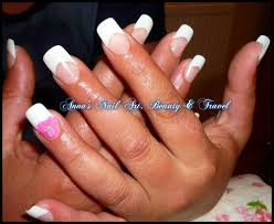french white tips with acrygel nails youtube