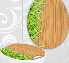 bambus design wc sitz aufkleber holz bambus design folie dekor für