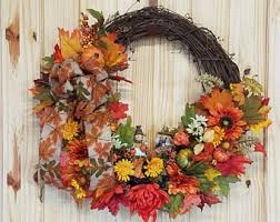 thanksgiving wreath etsy