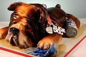 rude bulldog 40th birthday cake 40th birthday party cake f u2026 flickr