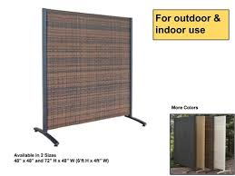 Standing Outdoor Wicker Partition Panel