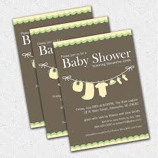 baby shower invitations yellow green gender neutral clothesline