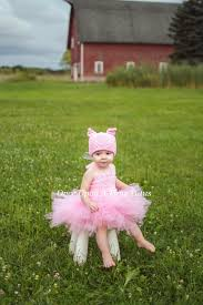 Pig Halloween Costume Baby Pink Pig Tutu Dress Cute Farm Animal Piggy Halloween