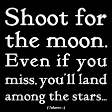 shoot for the moon quotable magnet