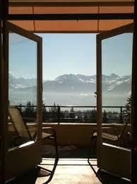 chambre montana lui vue de la chambre vers la terrasse picture of crans