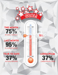 Fundraising Charity Goal Thermometer Templat Royalty Free Stock Thermometer For Fundraising Template