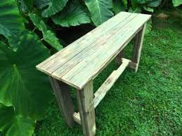 reclaimed wood entry table reclaimed pallet wood sofa entry table youtube