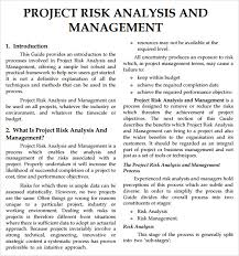 project analysis report template risk analysis template 8 free documents in pdf word