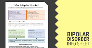 bipolar disorder info sheet worksheet therapist aid