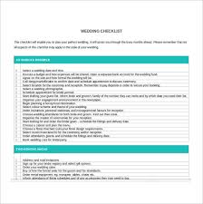 wedding checklist wedding checklist template 20 free excel documents