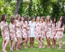 and bridesmaid robes white floral posy robes for bridesmaids getting ready bridal