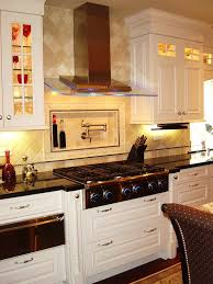 How To Design Kitchen Cabinets by Dazzling Pot Filler Faucet In Kitchen Contemporary With Dacor