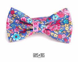 floral bowtie floral bow tie etsy