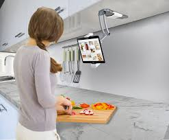 amazon com 2 in 1 kitchen mount stand for 7 13 inch tablets ipad amazon com 2 in 1 kitchen mount stand for 7 13 inch tablets ipad 2017 ipad pro 9 7 10 5 12 9 surface pro ipad mini computers accessories