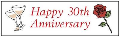 30 wedding anniversary happy 30th wedding anniversary