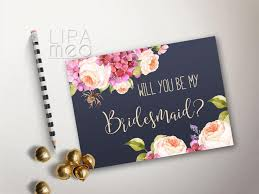 be my bridesmaid invitations will you be my bridesmaid card printable floral bridesmaid cards