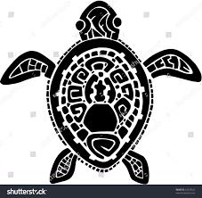 tribal tattoo turtle vector illustration stock vector 42519325
