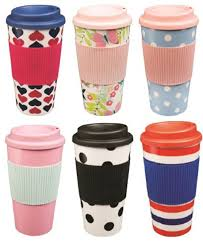 buy coffee mugs online india pink u0026 blue polka dot thermal insulated tea coffee mug cup travel