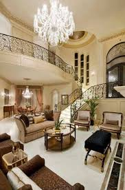 High Ceiling Living Room Designs by Living Room Luxury Living Room With Crystal Chandelier And High