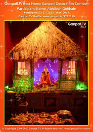 Home Ganpati Decoration Abhilesh Gokhale Ganpati Tv