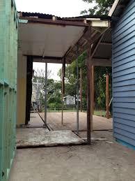 bungalow bliss subfloor backdoor steel beams laundry dreams